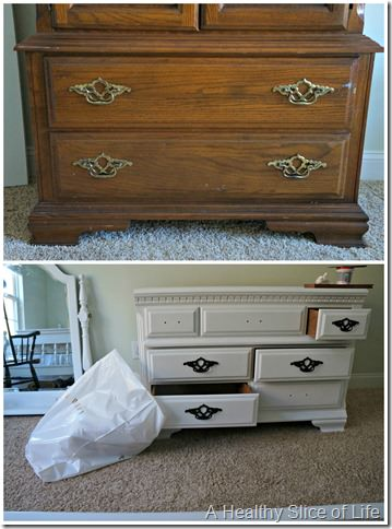 big girl room transition- painted furniture