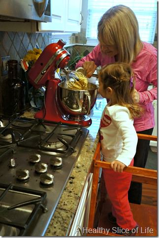 charlotte snow storm February 2014- baking cookies
