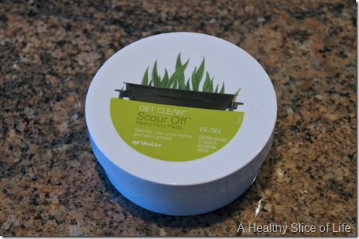green home cleaning- shaklee scour off paste