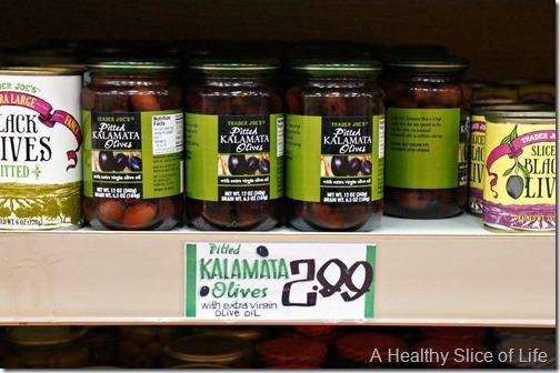 trader joes shopping- kalamata olives