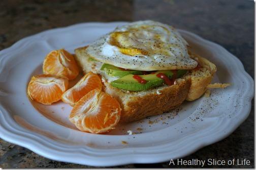 visual meal plan- egg and avocado toast