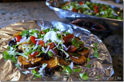visual meal plan- sweet potato nachos