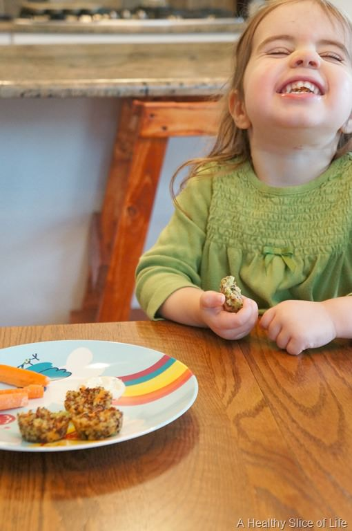 Broccoli Cheddar Quinoa Bites for Toddlers and Baby Led Weaning