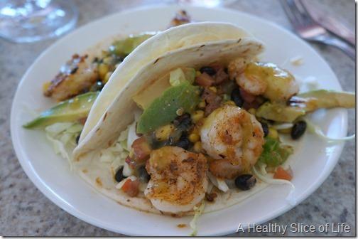 hilton head island vacay- Topside Waterfront bbq shrimp tacos