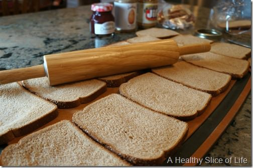 make your own healthy uncrustable sandwiches for the freezer- step 1