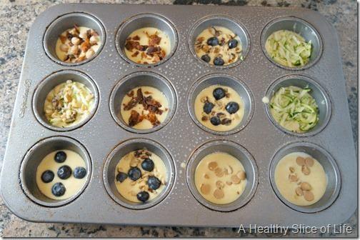 pancake muffins- 1 tbsp mixins