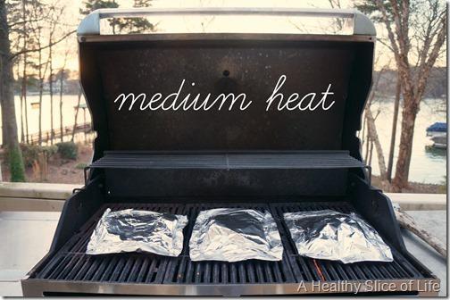 simple seafood grill packs- medium heat