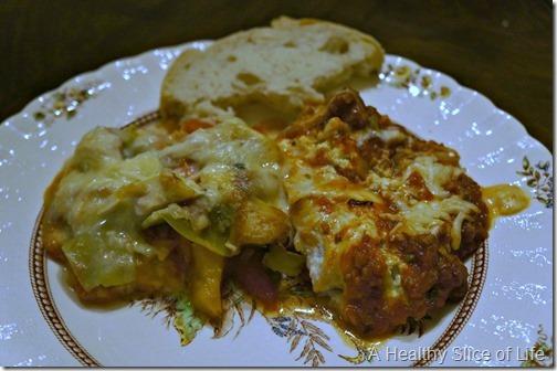 visual meal plan- chicken and regular lasagna