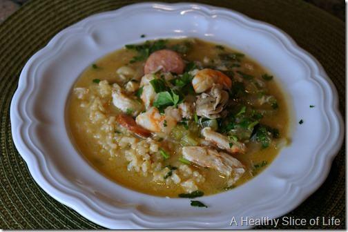 visual meal plan- seafood gumbo