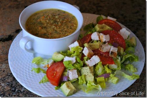 visual meal plan- white bean and kale veggie stew