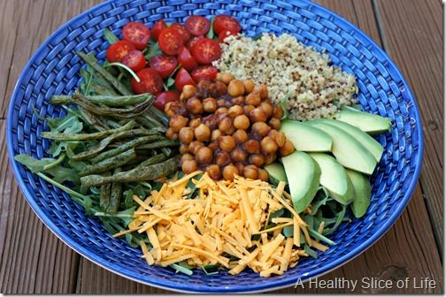 sweet n spicy chickpeas- salad