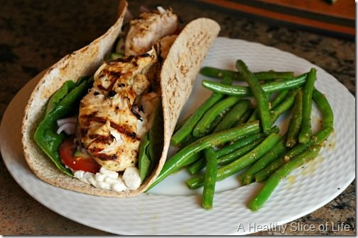 visual meal plan chicken wraps