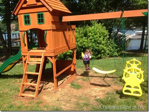 stay at home mom of two- swing set