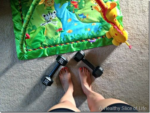 working out at home as a mom