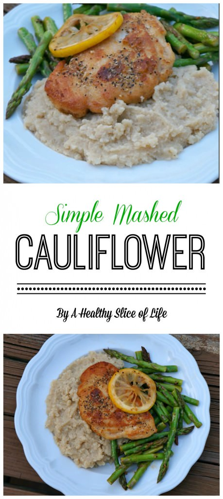 simple mashed cauliflower in the crockpot - paleo friendly