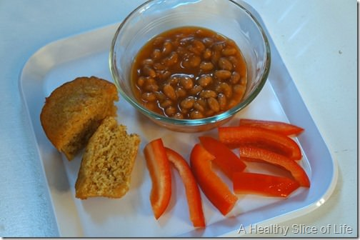 toddler meals- baked beans