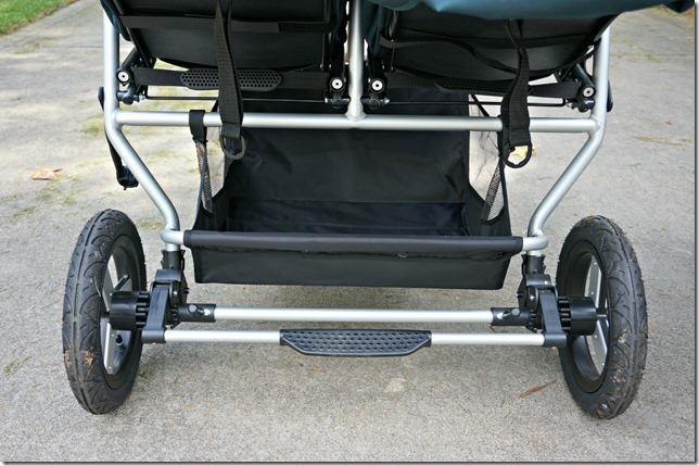 bumbleride indie twin- large easily accessible basket