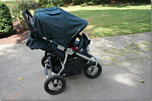 bumbleride indie twin- sunshade fold up seat