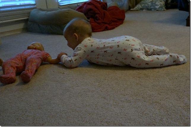 kaitlyn- 5 months- army crawl