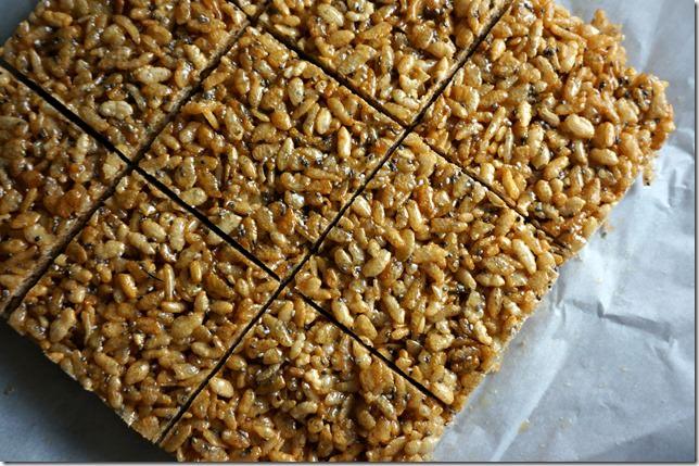 coconut chia crispy rice treat- 1