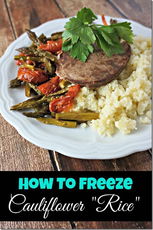 freezing cauliflower rice- how to