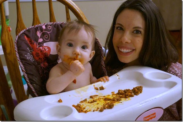 8 months old- spaghetti