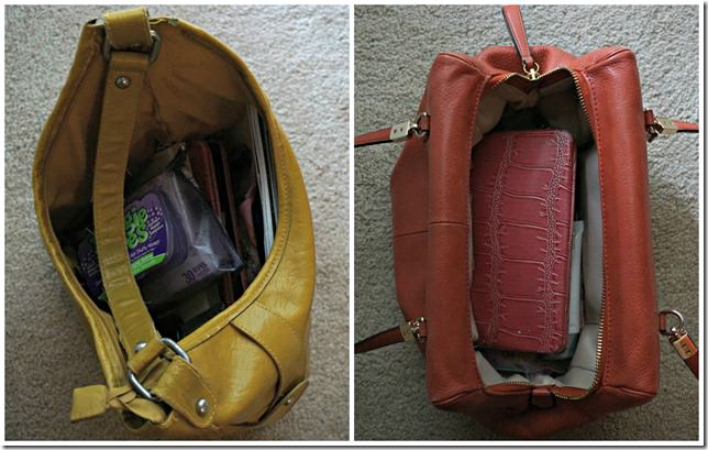 purse clean out before and after