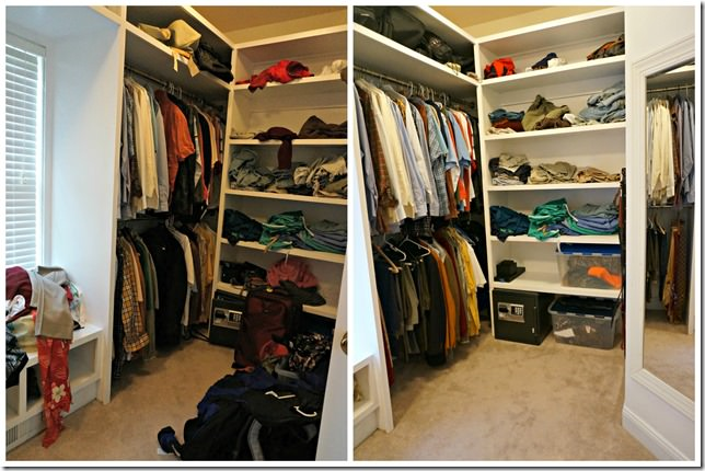 right side closet before and after