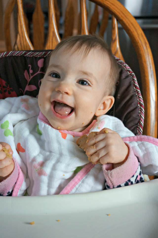 happy baby led weaning baby