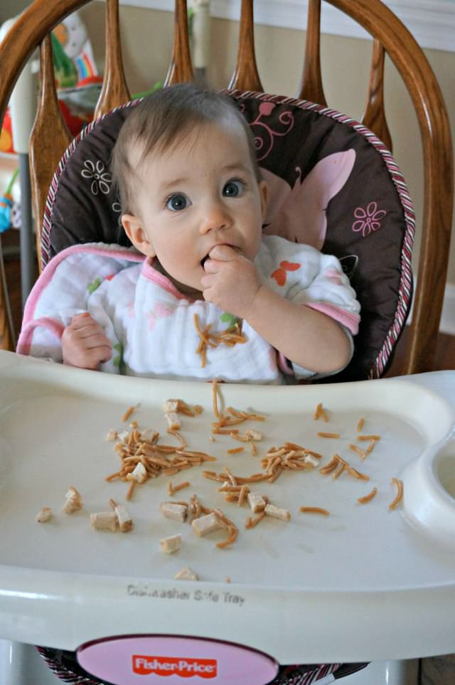 9 month old baby led weaning