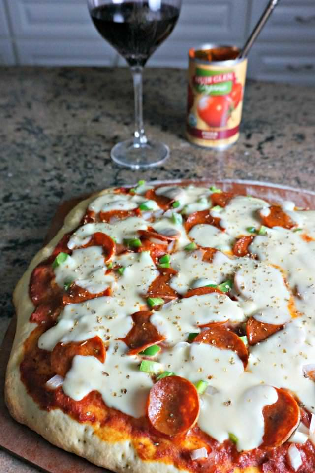 basil pizza crust
