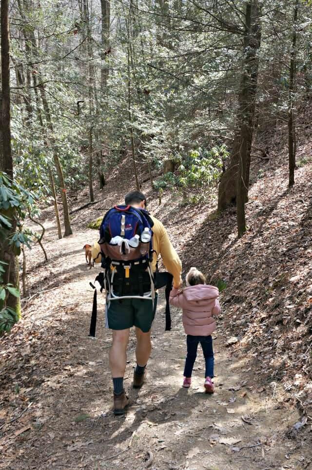 stone mountain state park north carolina- daddy daughter