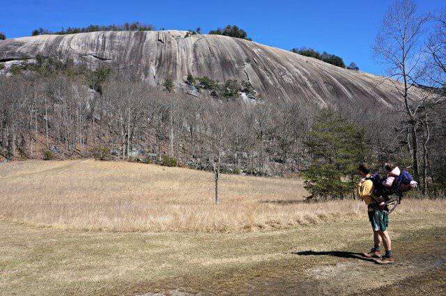 stone mountain state park north carolina- rock climber