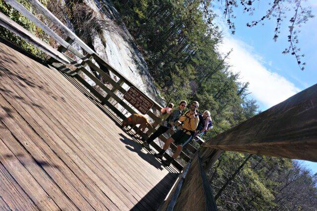 stone mountain state park north carolina- waterfall platform