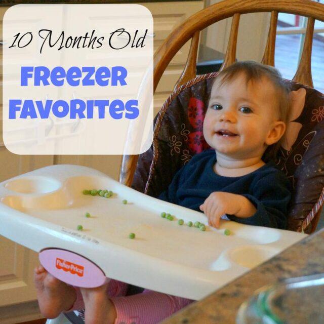 10 months old favorite freezer foods