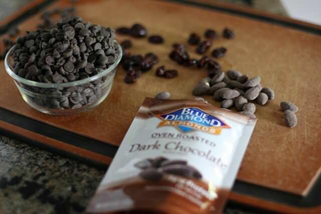 cherry almond dark chocolate bites- chocolate almonds