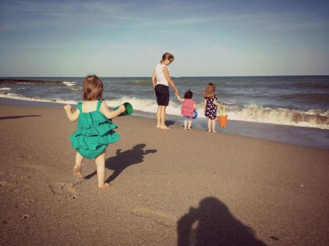 kaitlyn's first beach time