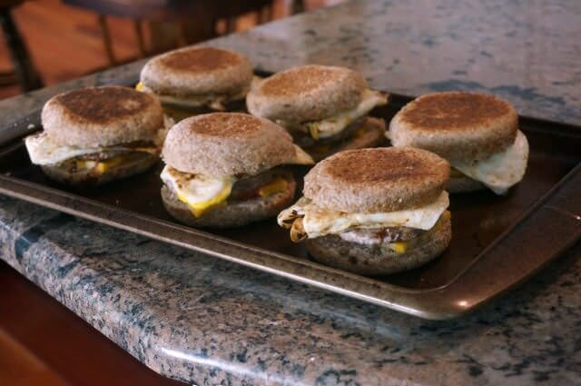 meal planning after vacation- breakfast sandwiches