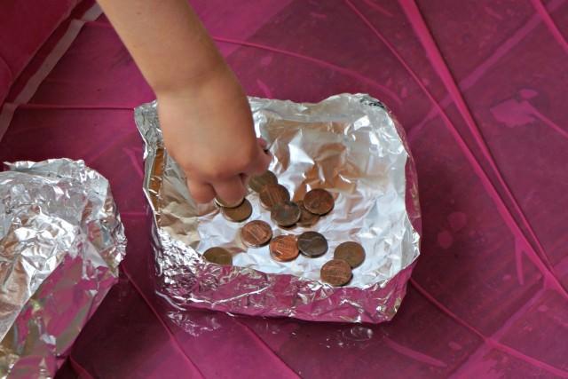 Homeschool Preschool Activity- penny float boat