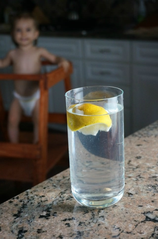a day of food- lemon water