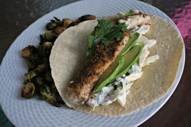 cod fish tacos and slaw