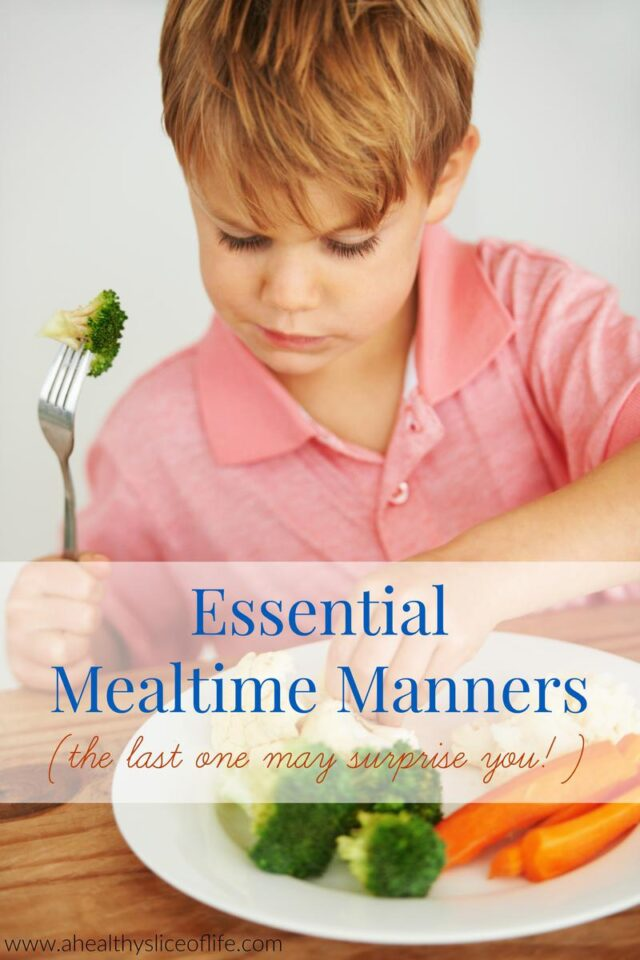 mealtime manners for kids
