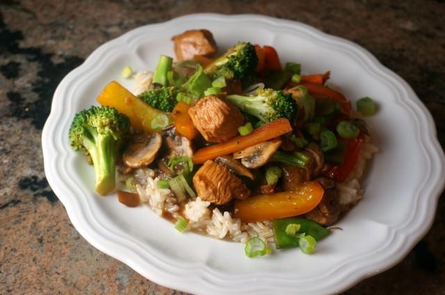 chicken and veggie stiry fry