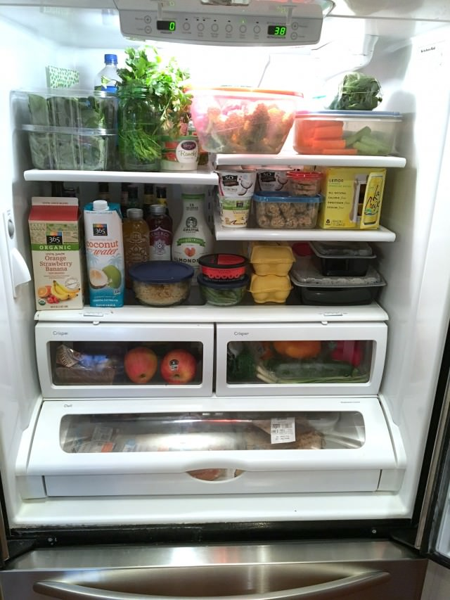 food prepped fridge