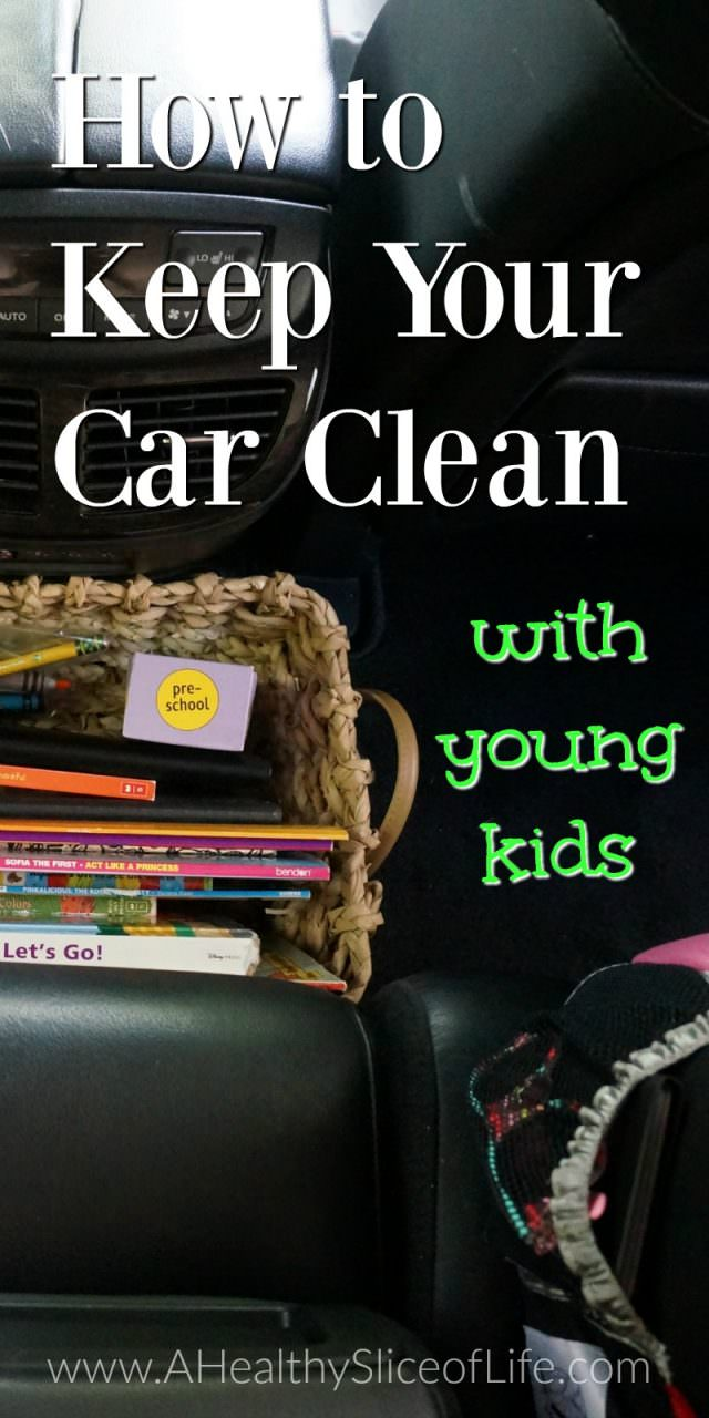 how to keep your car clean with young kids