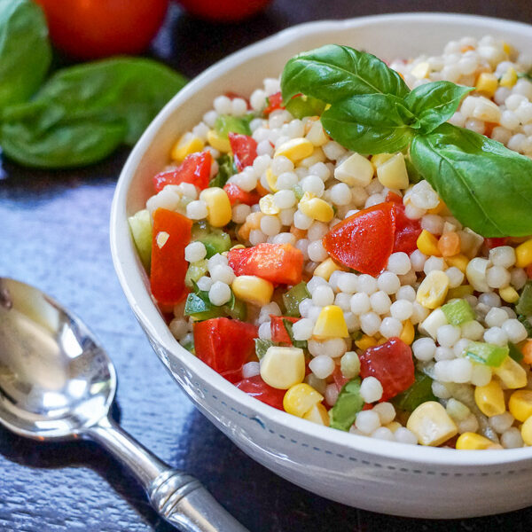 summer vegetable and couscous side dish