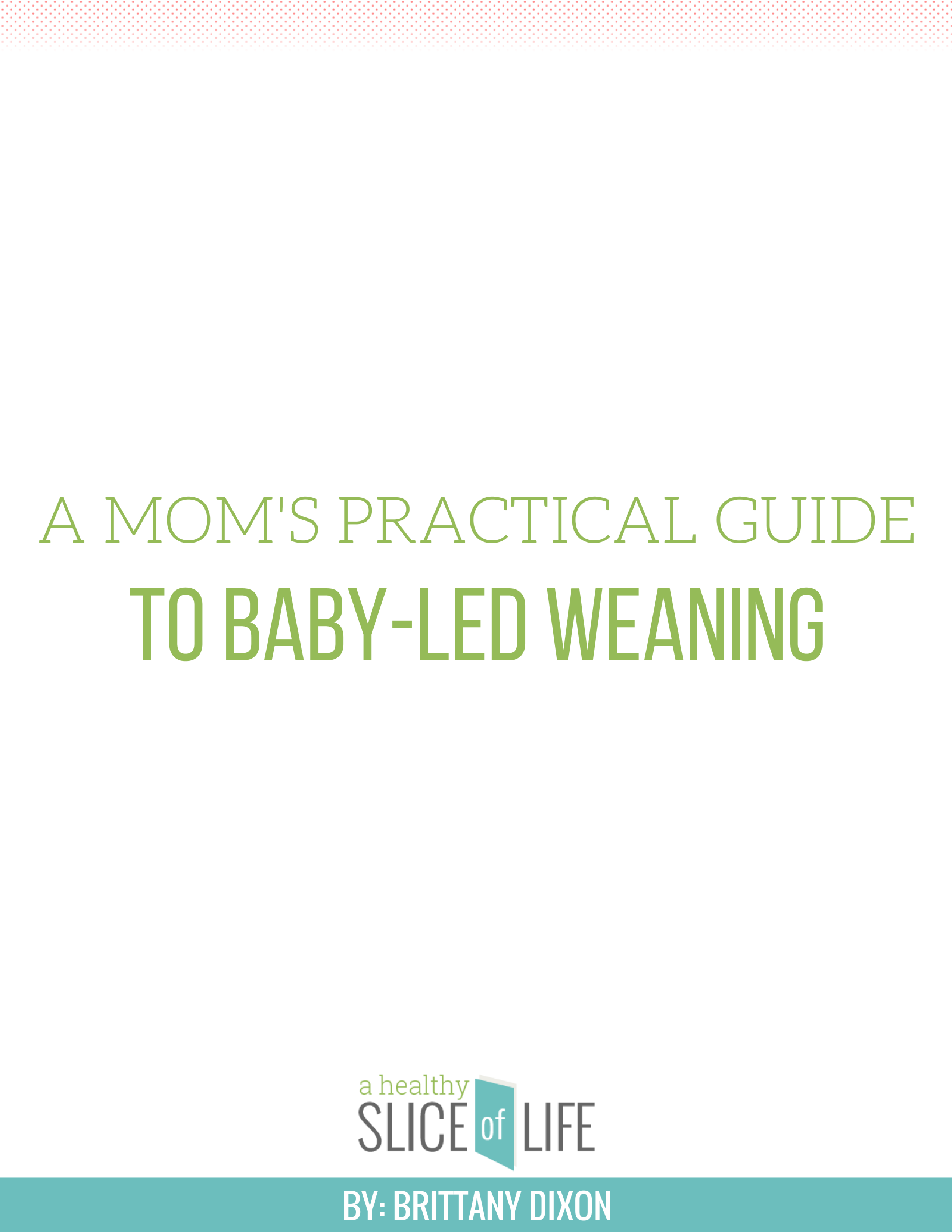 A Mom's Practical Guide to Baby Led Weaning - e-book cover