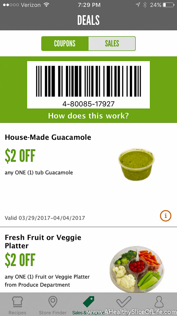whole foods app coupons