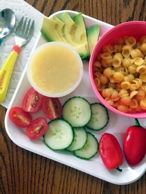 annie's mac n cheese kid plate