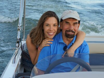 dad and daughter on boat